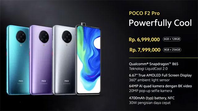Spesifikasi dan harga POCO F2 Pro di Indonesia