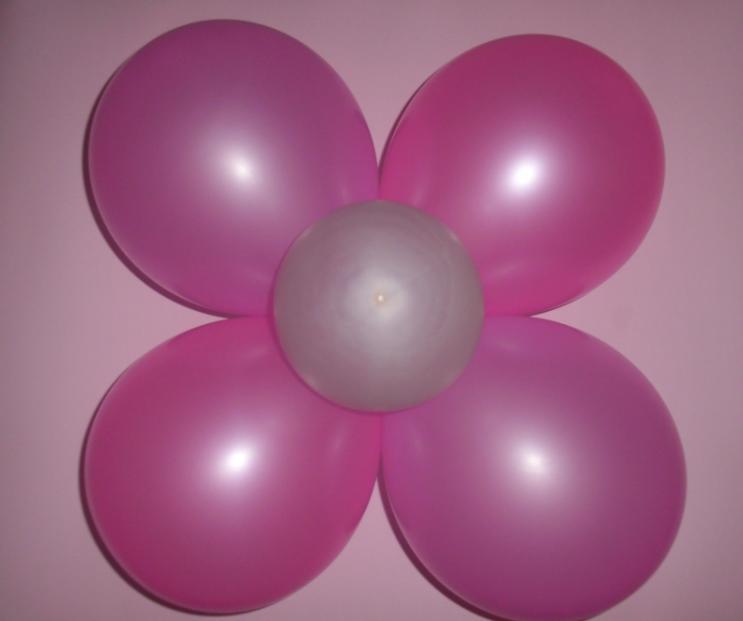 Como Hacer Flor De Globos 4 Petalos - Como-hacer-flores-de-globos