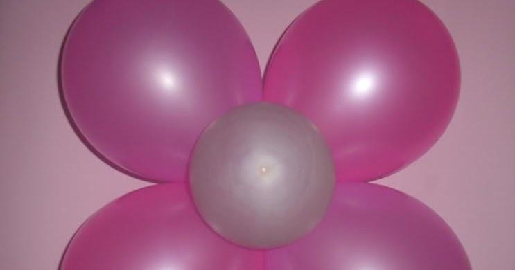 como hacer flor de globos 4 petalos