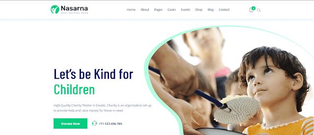 Nonprofit Fundraising & Charity WordPress Themes With Donation System   Nasarna