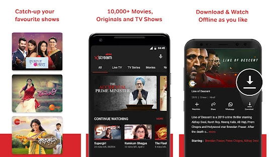 airtel xstream for pc features