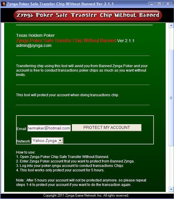 Transfer Chips Zynga Poker