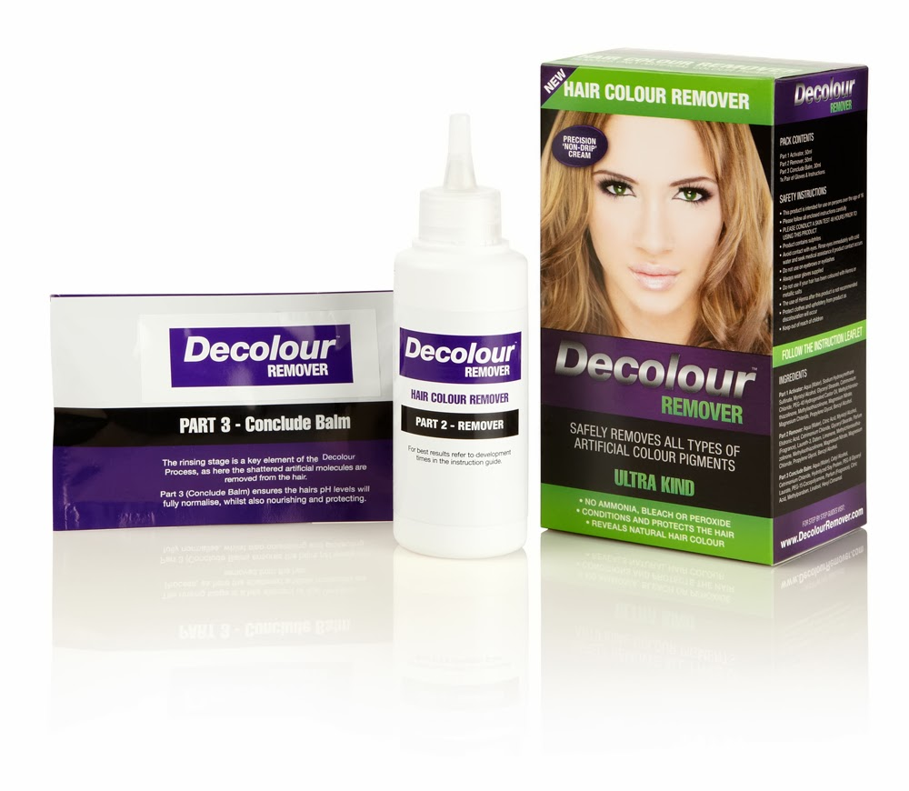 Removing hair color build up using Decolour hair colour