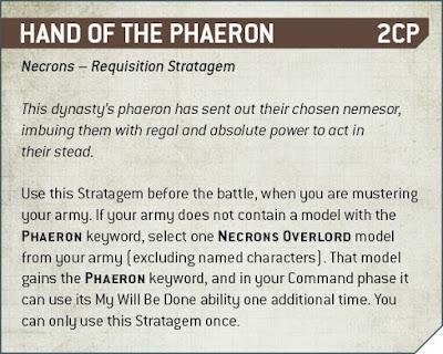 Estratagemas requisición Necrones