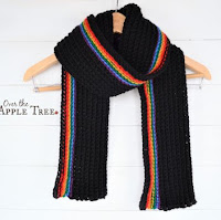 Dark Rainbow Scarf, Over The Apple Tree