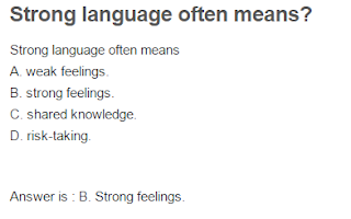 Strong language often means?