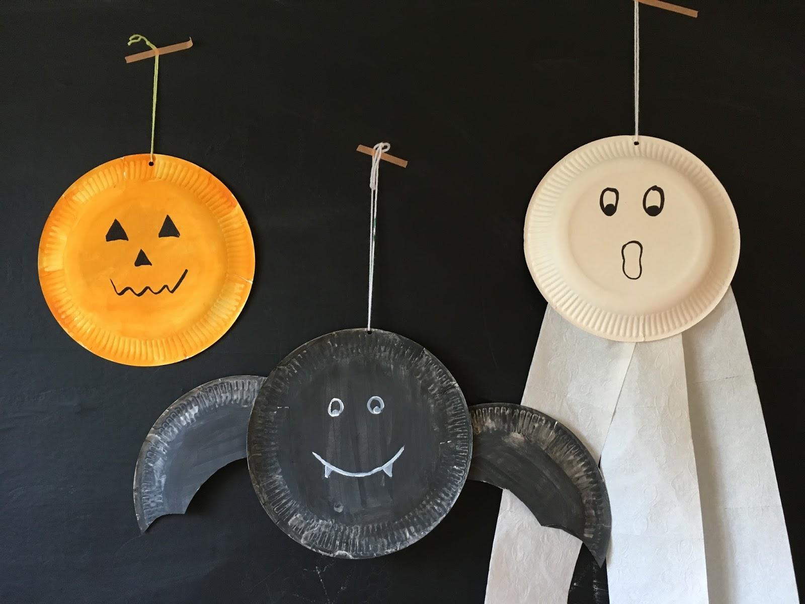birgit schreibt basteln mit papptellern halloween. Black Bedroom Furniture Sets. Home Design Ideas