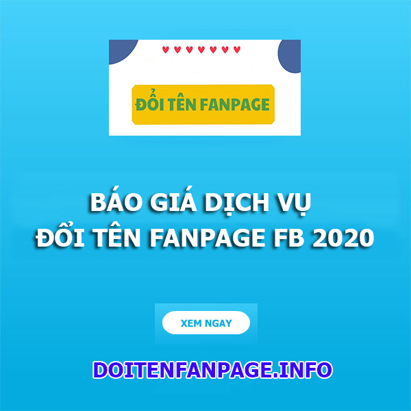 dich vu doi ten fanpage