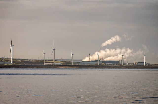 Photo of Iggesund paperboard factory at Workington from the Solway Firth
