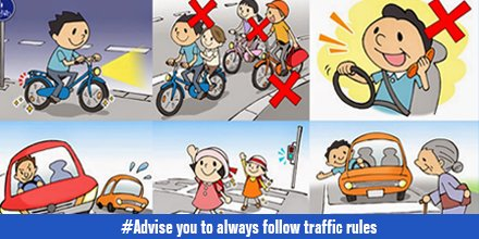 follow traffic rules avoid accidents