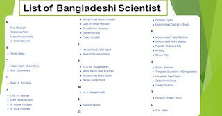 List of Bangladeshi Scientists