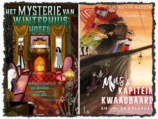 Gelezen jeugdboeken in november Het mysterie van Winterhuis Hotel en Mus & kapitein Kwaadbaard en De 5 slangen