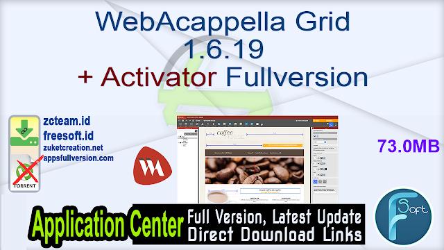 WebAcappella Grid 1.6.19 + Activator Fullversion