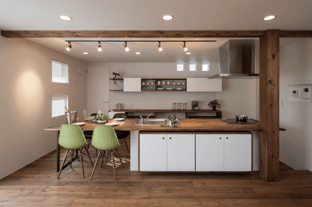 Inspirasi Ide Desain Dapur Minimalis Asia dengan tampilan semi rustic