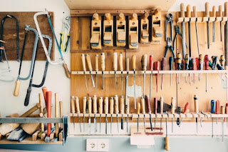 Woodwork tool shed