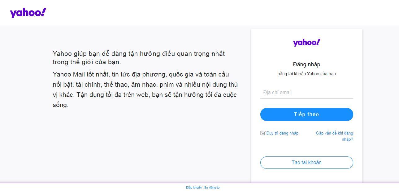 Hướng dẫn đăng ký tài khoản mail yahoo