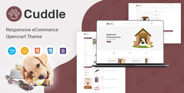 Best Pet Shop Responsive OpenCart Theme