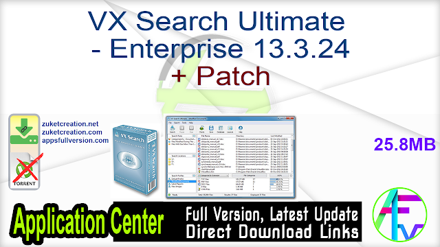 VX Search Ultimate – Enterprise 13.3.24 + Patch