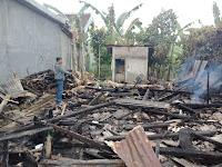 Polsek Talang Padang Olah TKP Kebakaran Rumah Warga Gisting
