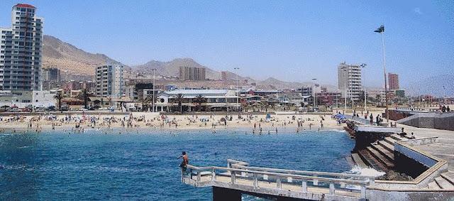 Artificial beach in Chile.