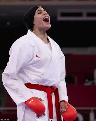 أول ميدالية ذهبية لمصر فى اولمبياد طوكيو 2020.... فريال أشرف تحقق أول ذهبية بالكاراتيه في تاريخ الأولمبياد