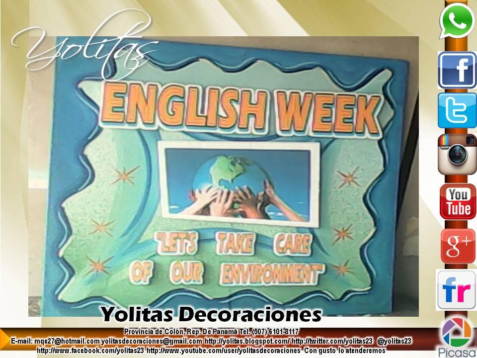 Yolitas decoraciones elaboramos murales escolares en foam for Diario mural en ingles