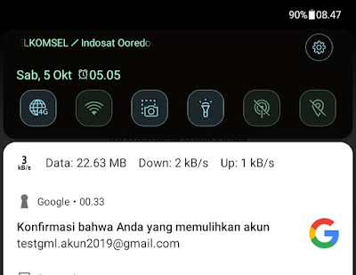 cara mengganti password gmail di hp