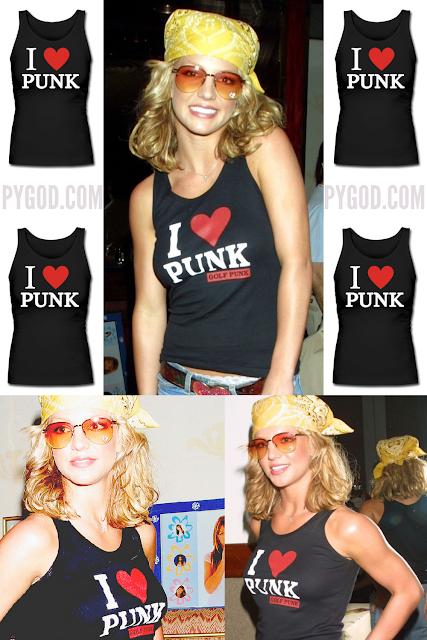 Britney Spears 'I Love Punk' shirt (i heart punk).  PYGOD.COM