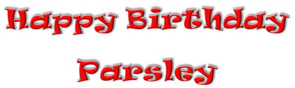 Happy Birthday Parsley Banner ©BionicBasil®