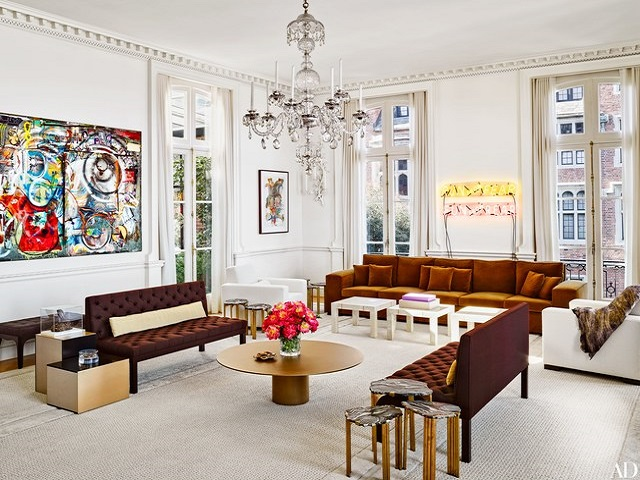 desain ruang tamu bergaya vintage