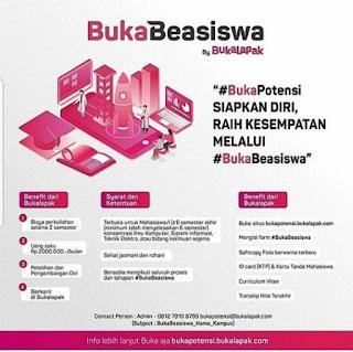Beasiswa Bukalapak BukaBeasiswa 2018 Mahasiswa