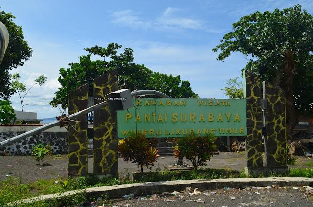 Tugu informasi Pantai Surabaya, Wineru, Likupang Timur +jelajahsuwanto