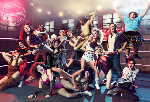 promotional image of the cast of GLOW
