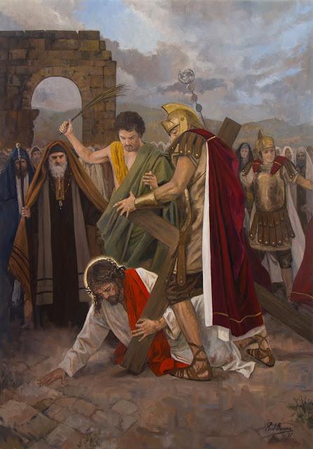 VII Estação da Via-Sacra - Jesus cai pela segunda vez