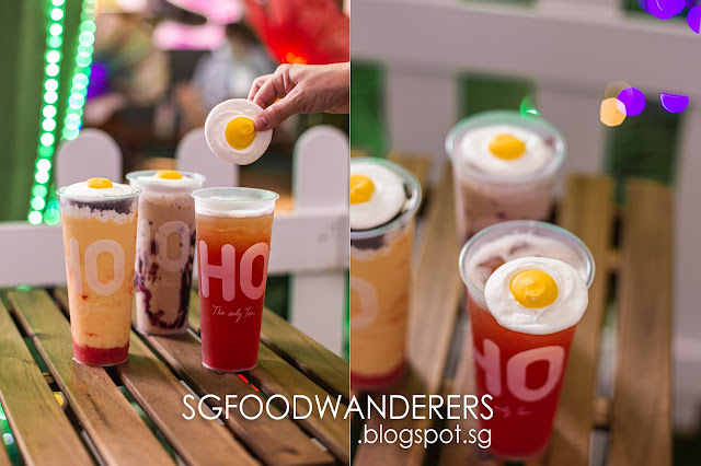 LiHo Singapore: Sunny Side Up Egg Meringue Topping Bubble Tea