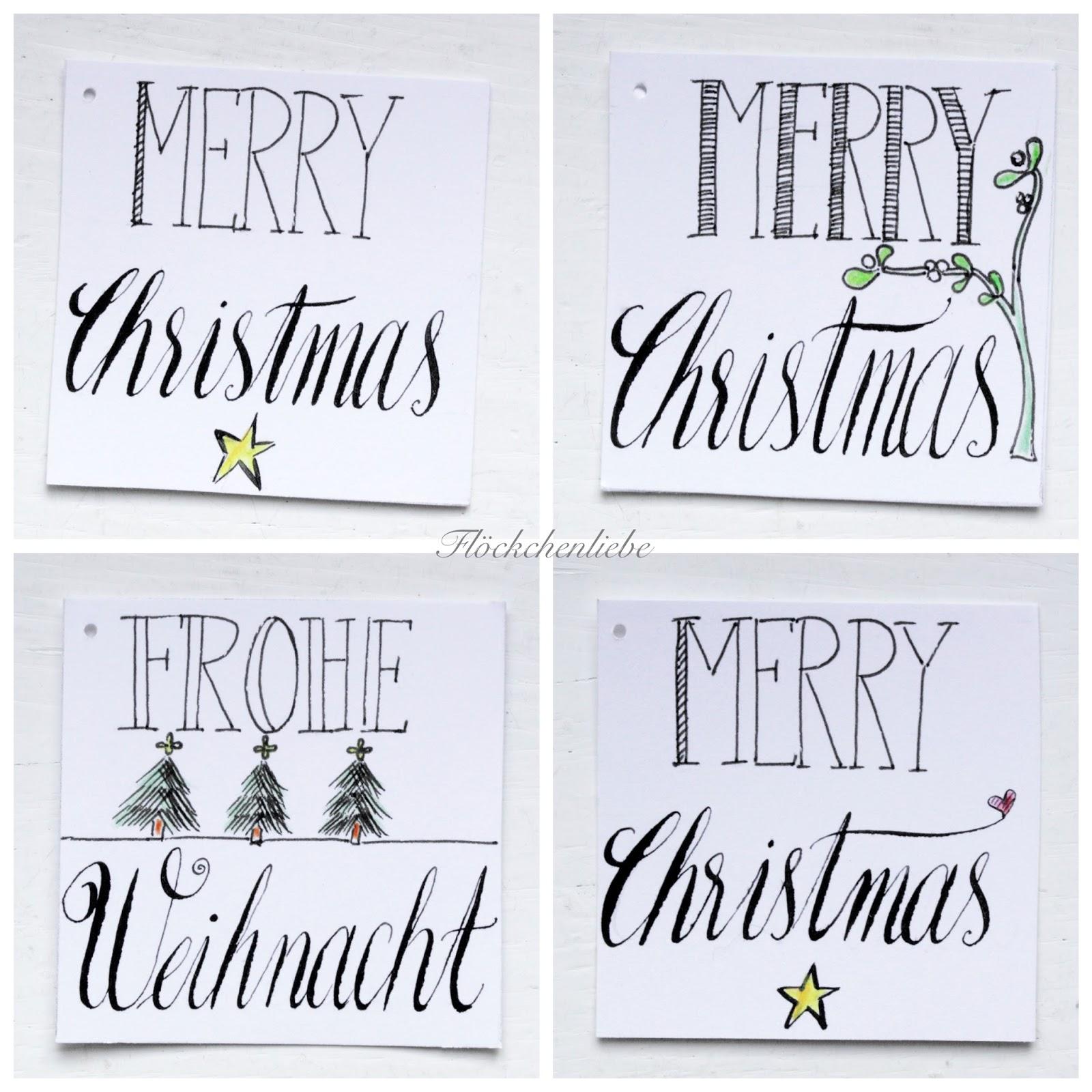 fl ckchenliebe hand lettering f r weihnachtskarten. Black Bedroom Furniture Sets. Home Design Ideas