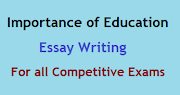 Importance of Education Essay or Essay on Importance of Education for Competitive Exams