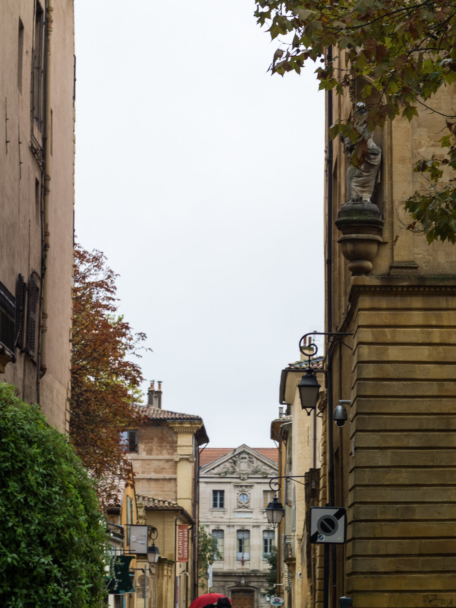 Street view of Aix-en-Provence in the South of France,
