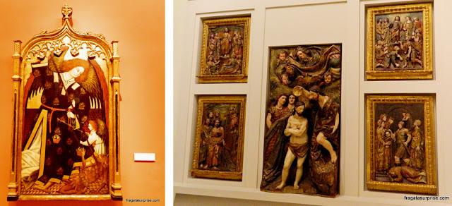"""""""São Miguel Arcanjo"""" e """"Retábulo de São João Batista"""", no Museu de Belas Artes de Sevilha"""
