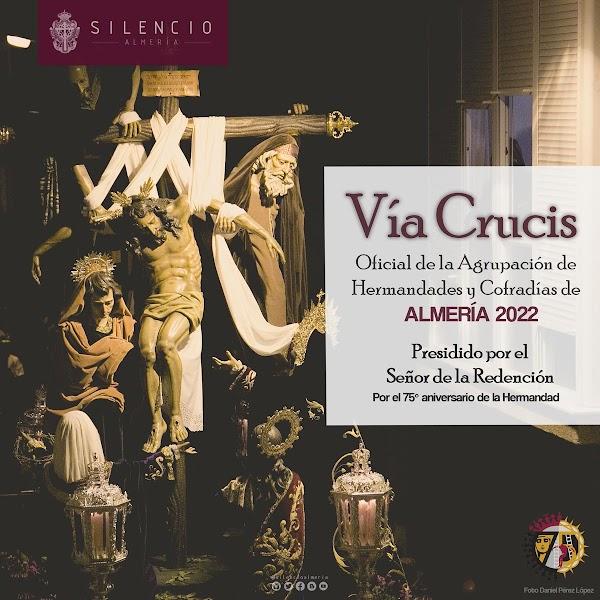 El Señor de la Redención presidirá el Via Crucis oficial de las Hermandades de Almería en 2022