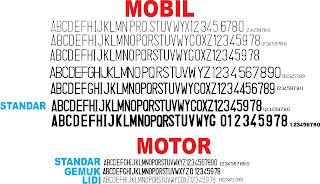 sticker pelat nomor kendaraan bermotor