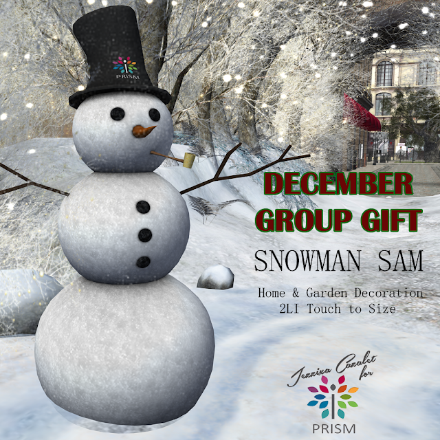 PRISM ~ New December Group Gift by Jezzixa! Snowman Sam