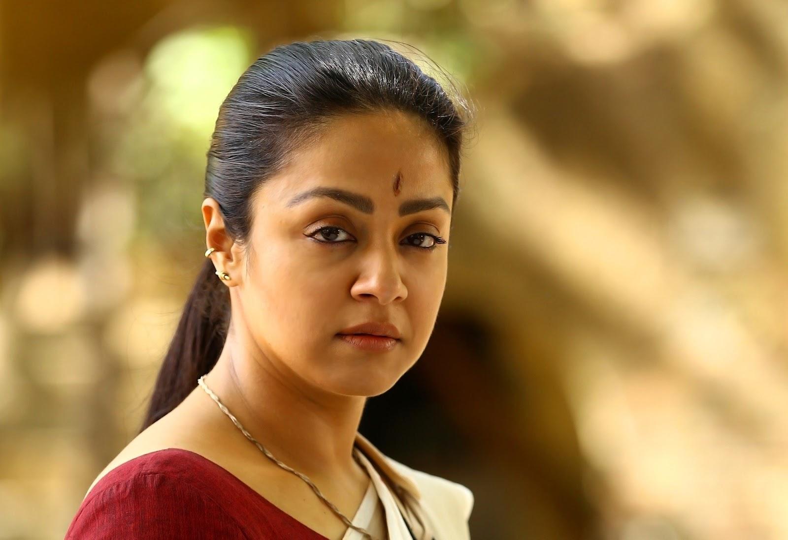 Actress Jyothika In Nachiyar Movie Photos In Cute Lip Look ...