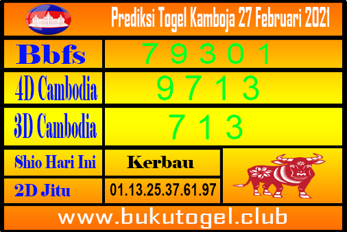 Prediksi Cambodia 27 Februari 2021