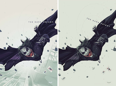 San Diego Comic-Con 2020 Exclusive The Dark Knight Screen Print by Oliver Barrett x Mondo