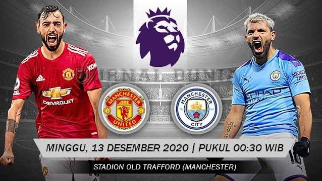 Prediksi Manchester United Vs Manchester City, Minggu 13 Desember 2020 Pukul 00.30 WIB @ Mola TV