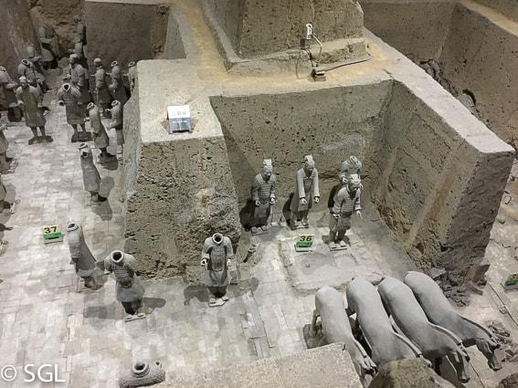 Guerreros de Terracota. Visitando Xian. Fosa 3