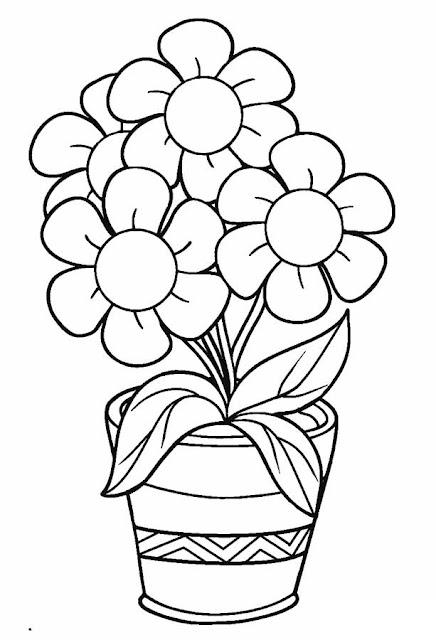 صور زهور للتلوين