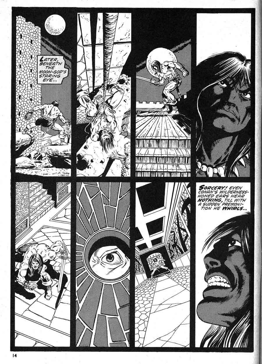 Savage Tales v1 #5 conan marvel comic book page art by Jim Starlin