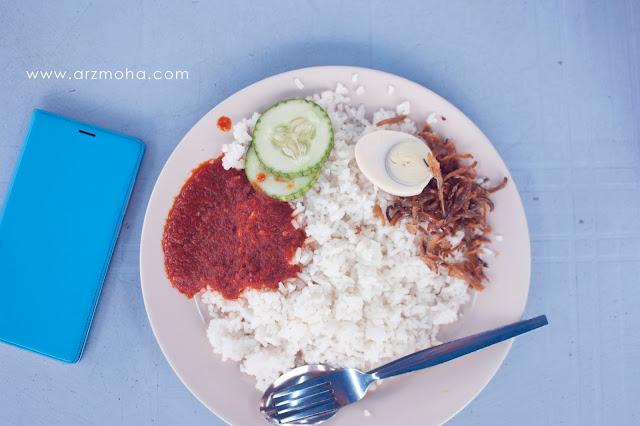 nasi lemak kukus pendekar mustar, nasi lemak sungai ara, nasi lemak murah, nasi lemak ayam berempah, makan menarik di penang,